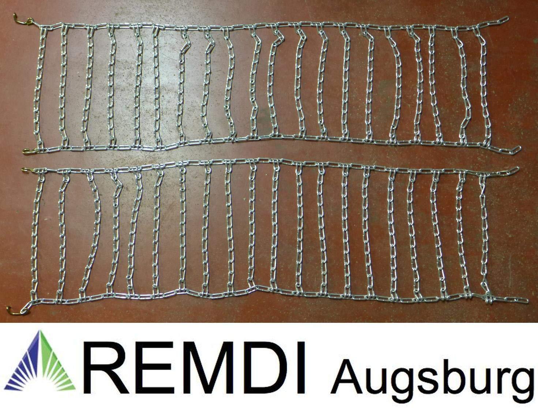 21 x 11.00-8 Profi Ausf/ührung Gliederst/ärke 4,5mm Remdi Augsburg Schneeketten 21x11.00-8