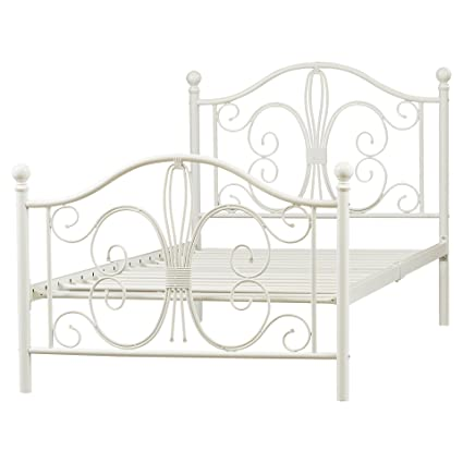 Amazon.com: Metal Platform Twin Bed Frame - Platform Metal Bed Frame ...