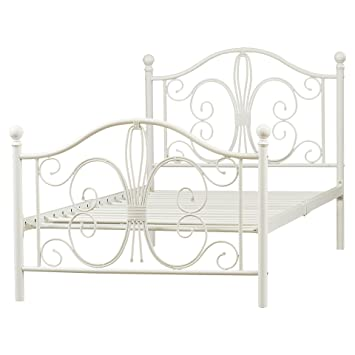 August Metal Platform Twin Bed Frame Platform Metal Bed Frame Bed Frame Metal Platform With Headboard Footboard And Slats White Metal Frame