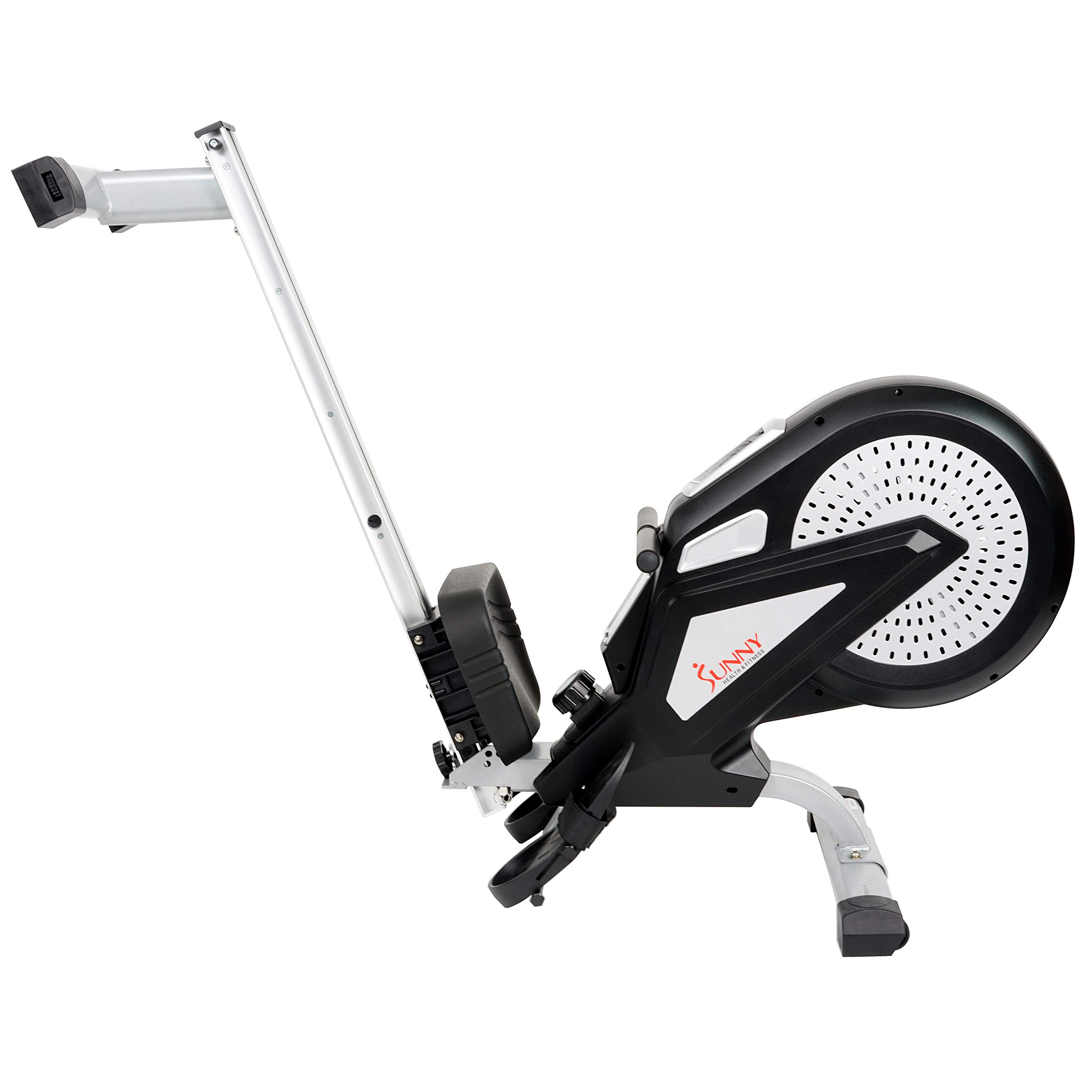 Sunny Health & Fitness Air Rower Rowing Machine w/ LCD Monitor, Dual Belt and Air Resistance SF-RW5623 by Sunny Health & Fitness (Image #10)
