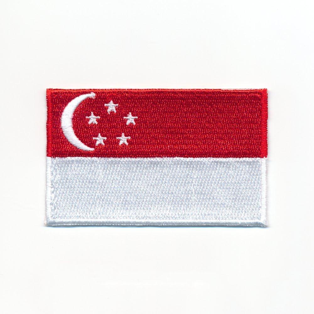 Singapour Drapeau /Écusson Republic of Singapore Flag thermocollant 0943/x 80/x 50/mm