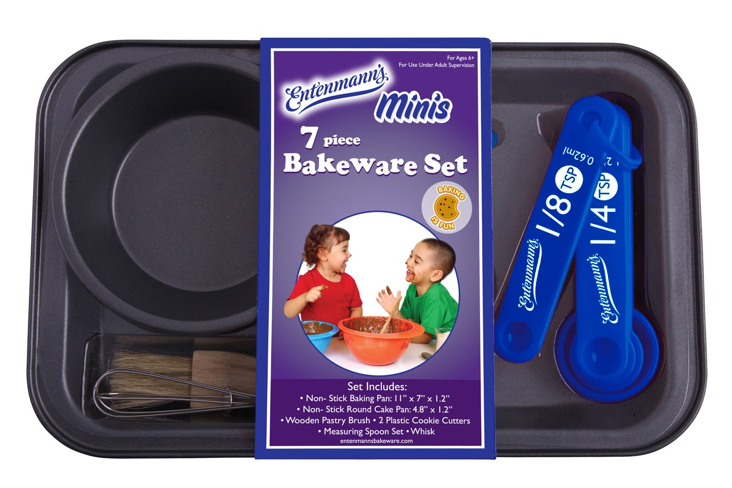 entenmanns bakeware kids bake set 7 piece ebay. Black Bedroom Furniture Sets. Home Design Ideas