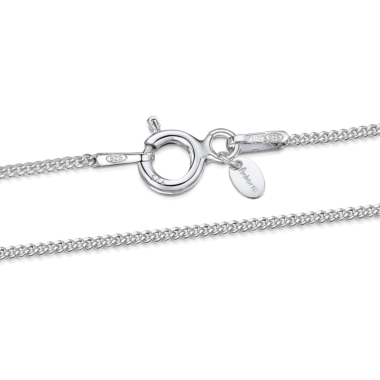 Collar Cadena de Frenar 1.1 mm 36 40 45 50 55 60 cm Amberta/® Joyer/ía Fina Plata De Ley 925