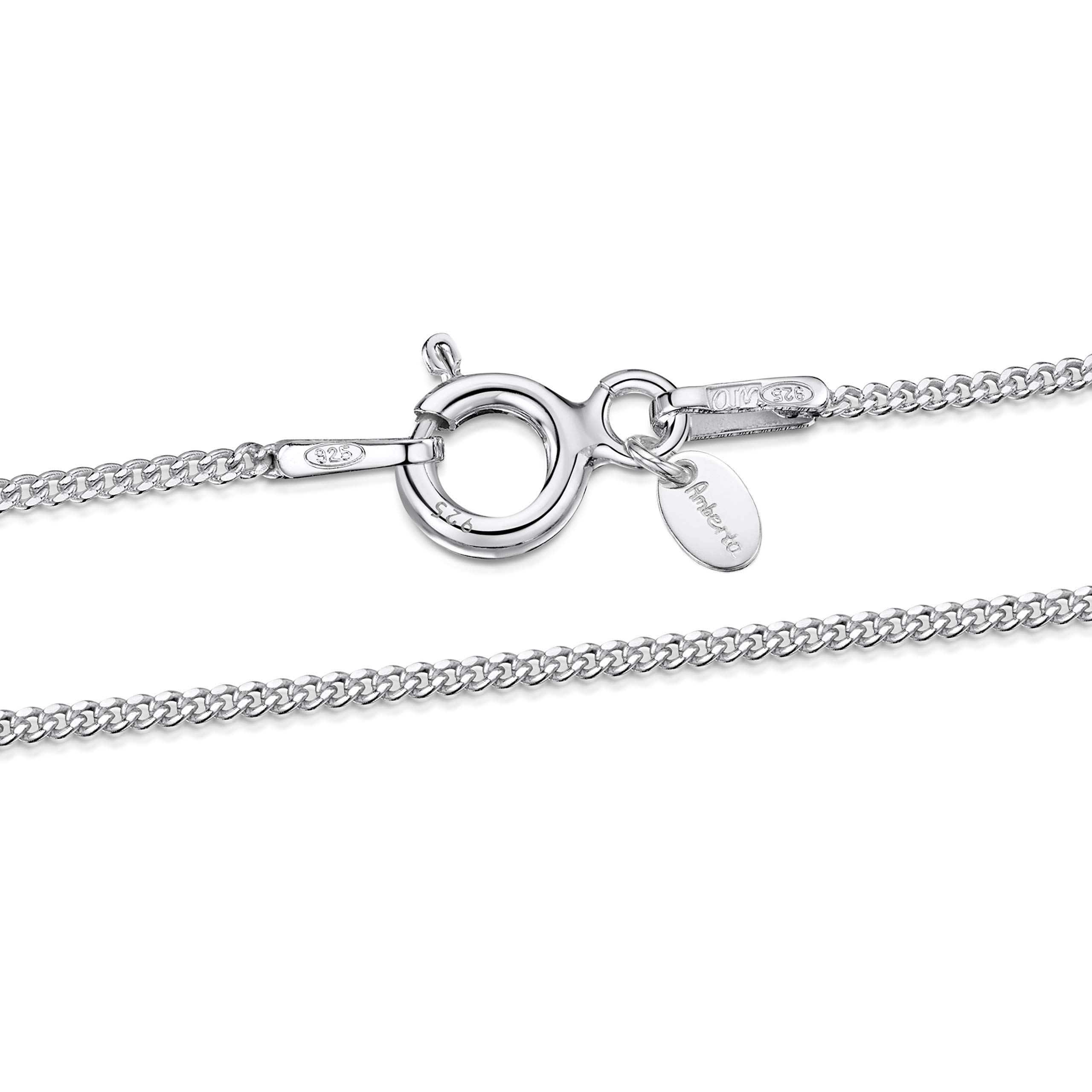 925 SOLID Sterling Silver 1.0mm Superfine CURB Chain