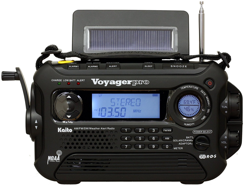 Kaito Voyager Pro KA600 デジタルソーラー発電 AM/FM/短波ラジオ NOAA天気緊急ラジオ Alert & RDS ブラック 並行輸入品 B0051QJJ1E