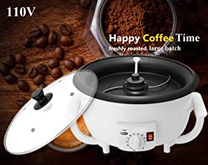 110V Home Coffee Roaster Machine, 800W Commercial Coffee Beans Roaster 750G Baker Roasting Equipment by Angelloong