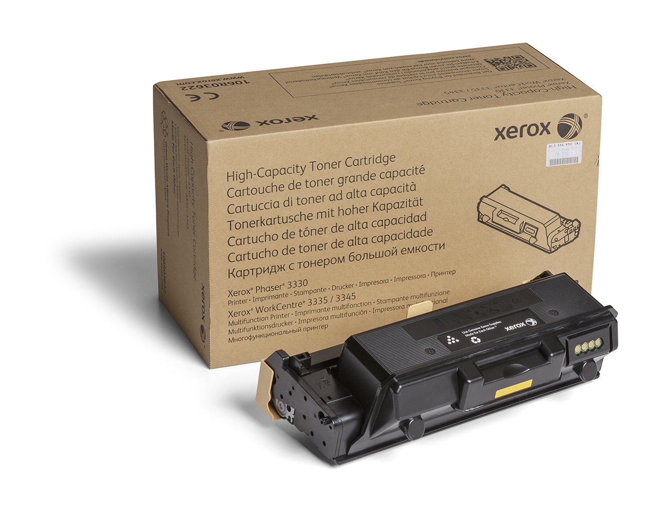 Xerox Phaser 3330/Workcentre 3335/3345 Black High Capacity Toner Cartridge (8,500 Pages) - 106R03622