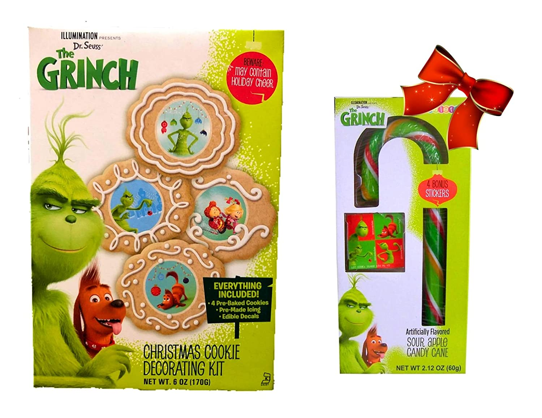 Christmas Cookie Decorating Kit.Amazon Com The Grinch Christmas Cookie Decorating Kit With