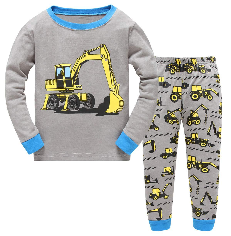 GSVIBK Boys Cotton Pajamas Baby Long Sleeve Pajamas Little Boy Short Sleeve Pajama Kids Dinosaur Sleepwear