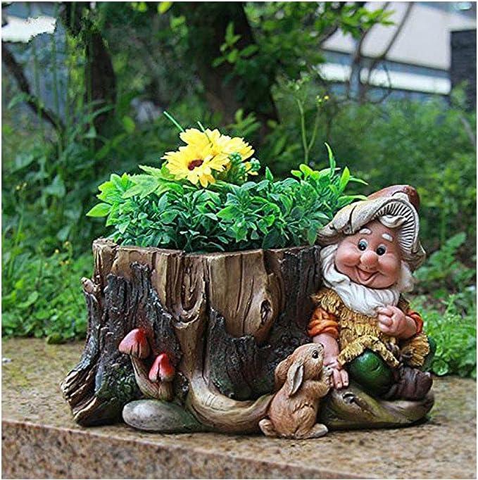 Diseño enano 15198 con maceta de 16 cm de altura decoración jardín enano figuras decoración enano: Amazon.es: Jardín