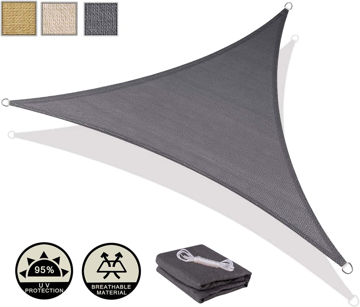 AXT SHADE 2 x 2m Square Sun Shade Sail UV Block for Outdoor Patio Garden-Cream
