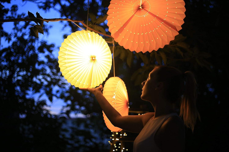Lampion-Seide-lampe--42cm  1 Lampion weis