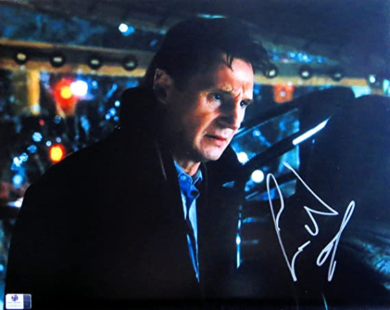 Liam Neeson Signed Autographed 11X14 Photo Taken Love