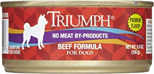 Triumph Beef Dog Food - 24X5.5 Oz