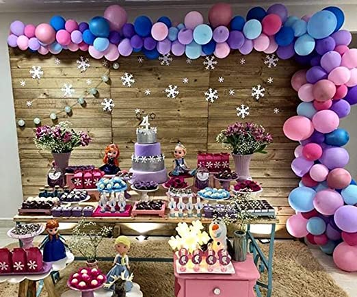Astounding Amazon Com 100 Pack Balloon Garland Arch Kit For Frozen Party Funny Birthday Cards Online Inifodamsfinfo