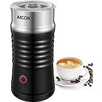 Aicok Milchaufschäumer Elektrisch, Milchaufschäumer Automatischer und Doppelwandiger Edelstahl Milchschäumer, Erhitzen und Aufschäumen für Kaffee, Latte, Cappuccino
