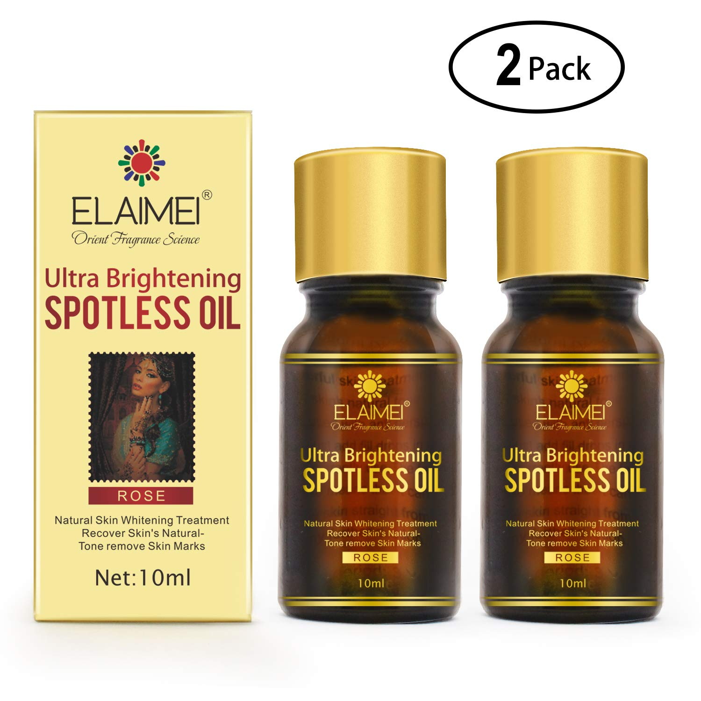 2 PACK Ultra Brightening Spotless Oil Skin Care Natural Pure Dark Spots Remove Ance Burn Strentch Marks Scar Removal Brightening Skin (10 ml) (spotless oil)
