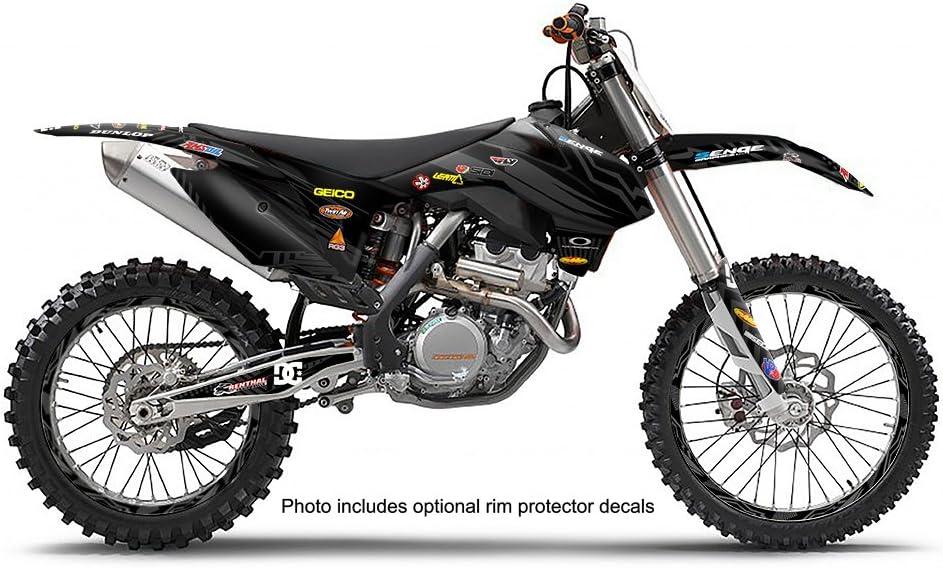 Mayhem Black Complete Senge Graphics Kit 2006-2012 SX 85//105 Compatible with KTM