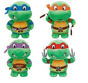 """TY Teenage Mutant Ninja Turtles (Set of 4) Medium Size 10"""" Set"""