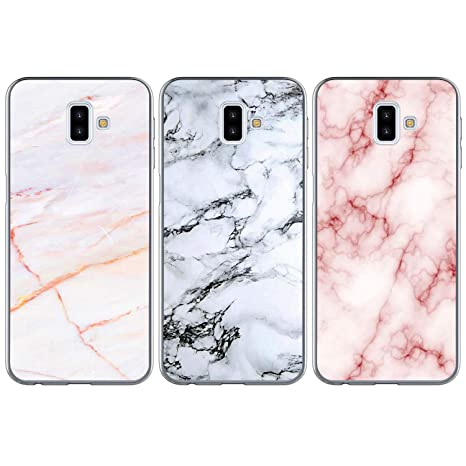 3x J6 Plus Funda Samsung Galaxy J6 Plus, Case Flores Carcasa ...