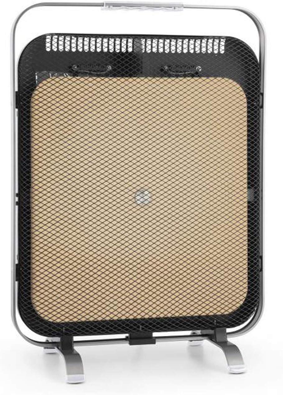 Klarstein HeatPal Marble Blackline radiador infrarrojo - Radiador portátil, Radiador Vertical, 1300 W, para Salas de 30 m², Función para conservar el Calor, Placa de mármol, Aluminio, Plateado