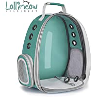 Lollimeow Pet Carrier Backpack, Bubble Backpack Carrier, Cats and Puppies,Airline-Approved,…