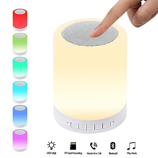 2 opinioni per Wireless Speaker Bluetooth LED con LED Touch Sensor lampada da tavolo, ZXK CO