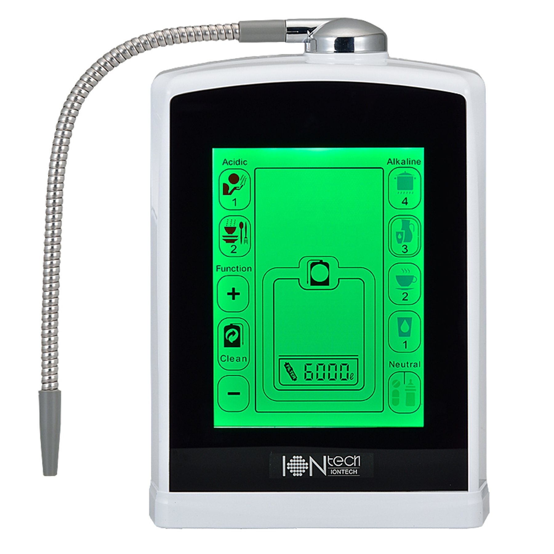 IONtech IT-588 Luxury Alkaline Water Ionizer Machine 7 pH Water Levels Japan Made Platinum Titanium Electrolysis Plates USA Made NSF Certified Activated Carbon Filter PH Test Included by IntelGadgets