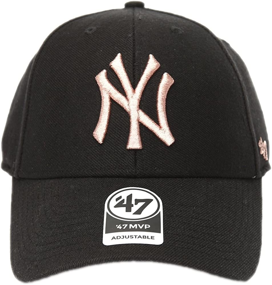 Gorra curva negra con logo bronce de New York Yankees MLB MVP ...