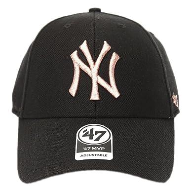 Gorra curva negra con logo bronce de New York Yankees MLB MVP Metallic de 47 Brand - Negro, Talla única: Amazon.es: Ropa y accesorios