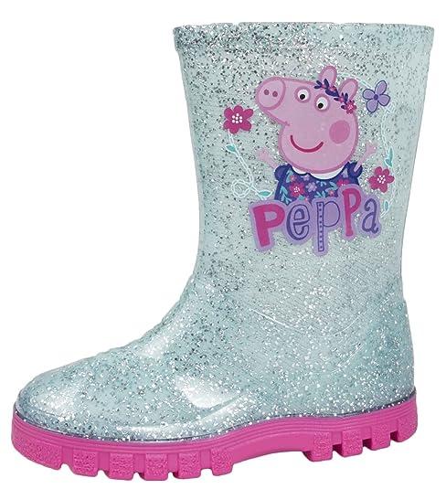 Botas Peppa Pig niñas efecto del brillo Wellington Welly (22)