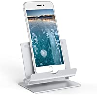 Cell Phone Holder CHOETECH Mobile Phone Bracket Tablet Kindle iPad Holder Aluminum Swivel Folding Stand Mount Vent for iPhone X 8 8 Plus 7 6, Samsung Galaxy S8 Note 8 S8 Plus, Nokia Nintendo Switch, Huawei iPad (3.5-10 inches) Silver