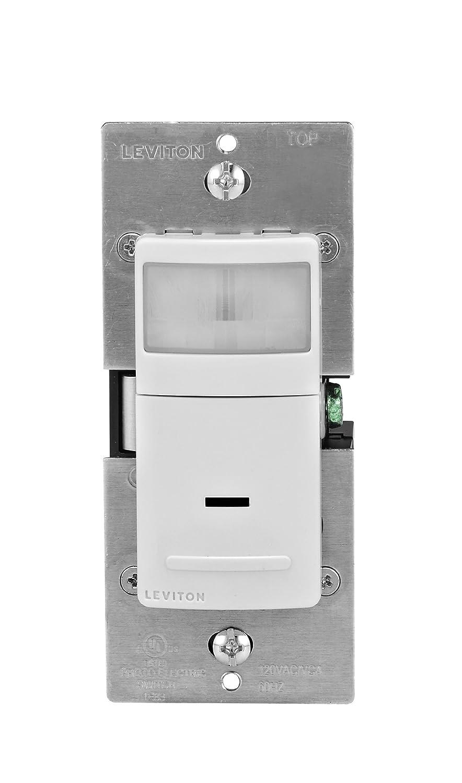 Leviton IPS02-1LW 300-Watt Incandescent, 150-Watt LED/CFL Occupancy ...