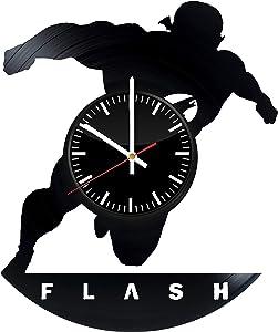 TikTok Studio The Flash Vinyl Record Wall Clock, Flash Wall Art, Flash Wall Decor, Flash Superhero Gifts, DC Superhero Art