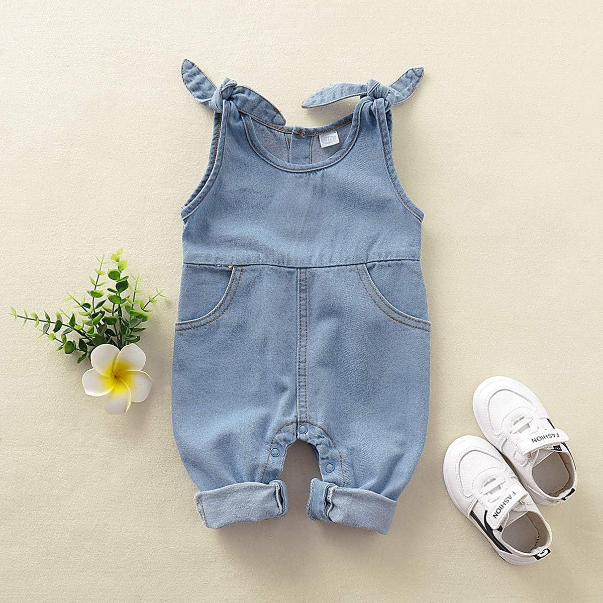 T TALENTBABY Neugeborener Jeansoverall Baby M/ädchen Hosentr/äger Jeans Hose Latzhose Strampler Overalls Jeanshose Onesie Denim Latz Overalls Overall
