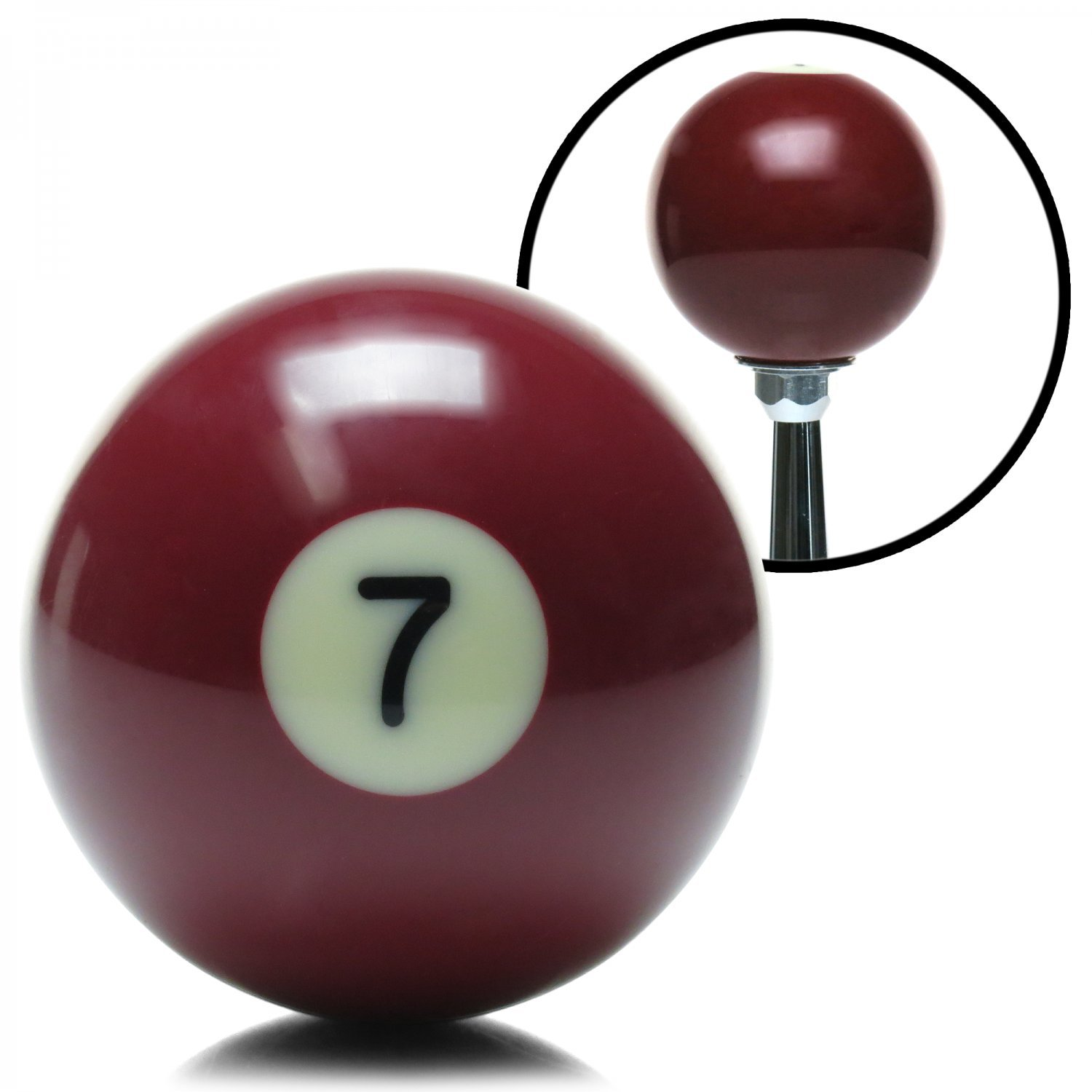 American Shifter 96052 Solid Dark Red 7 Ball Billiard Pool Shift Knob