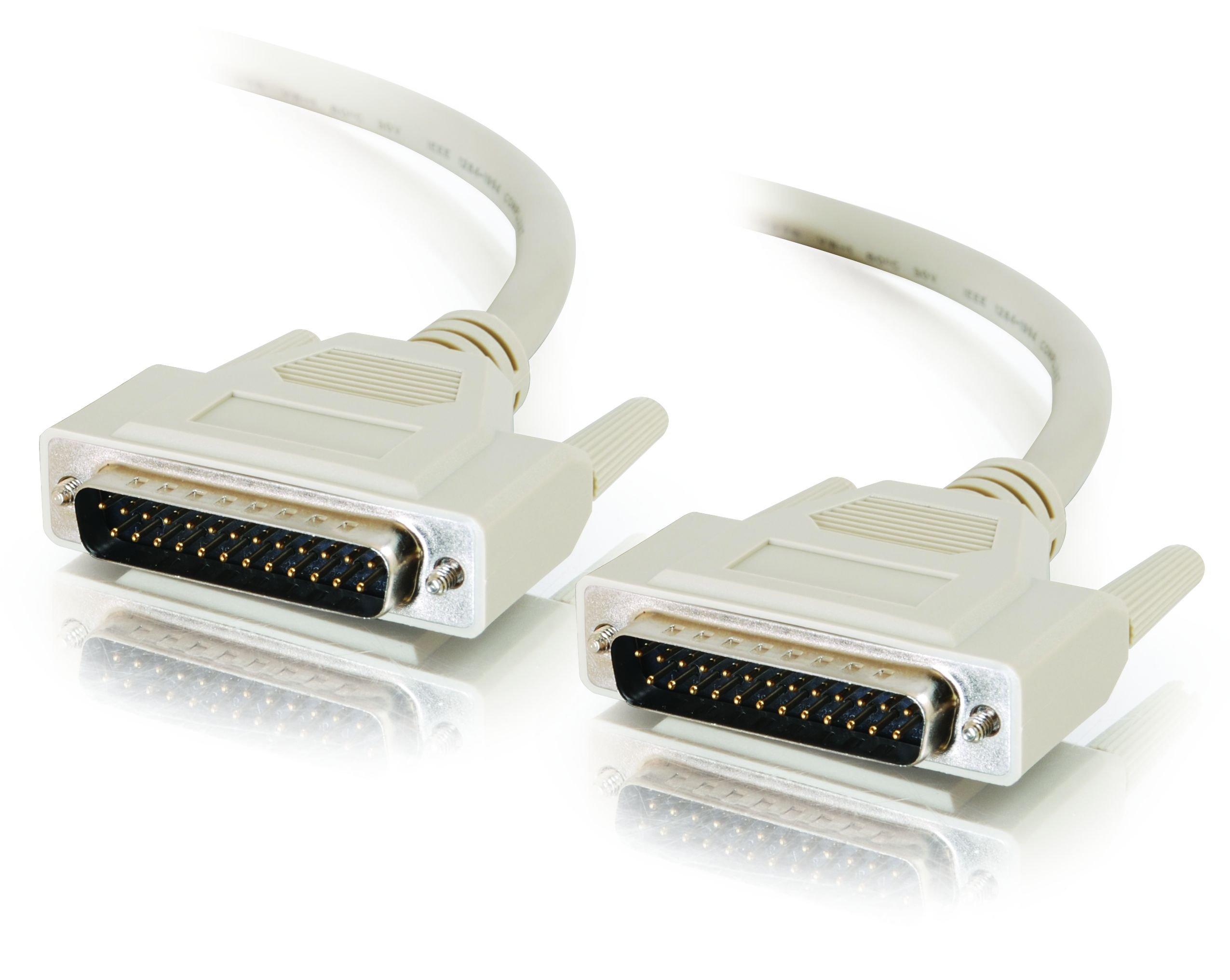 C2G 06103 IEEE-1284 DB25 M/M Parallel Cable, Beige (6 Feet, 1.82 Meters)