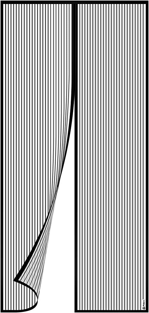 Lgreat Moustiquaire Porte Magn/étique,fermeture Automatique Plein Cadre Rideau Magn/étique,bande Adhesive,sans Per/çage,pour Porte De Chambre Porte De Terrasse A 70x200cm