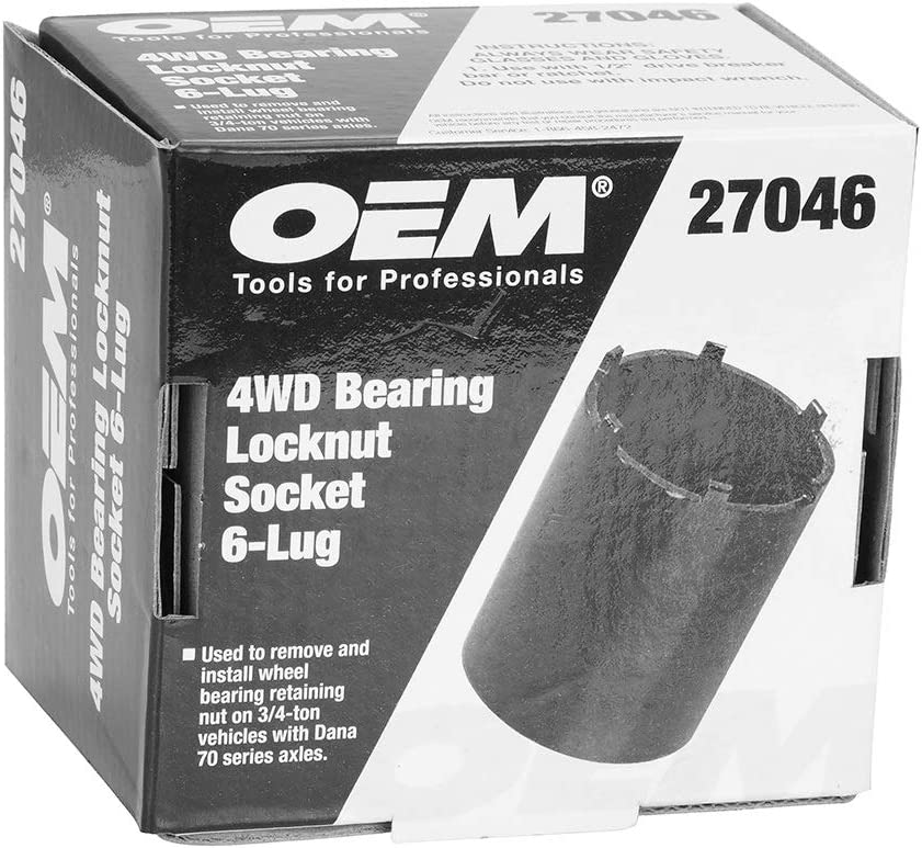 6 Lug OEMTOOLS 27046 4 Wheel Bearing Locknut Socket