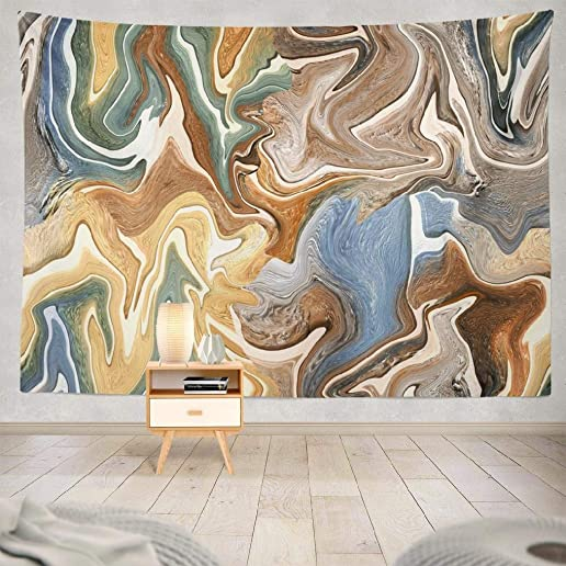 LALILO Decorative Tapestry Abstract Marble Architecture Art Beautiful Brown Wall Hanging Tapestry for Bedroom Living Kids Girls Boys Room Polyester 60 L x 80 W