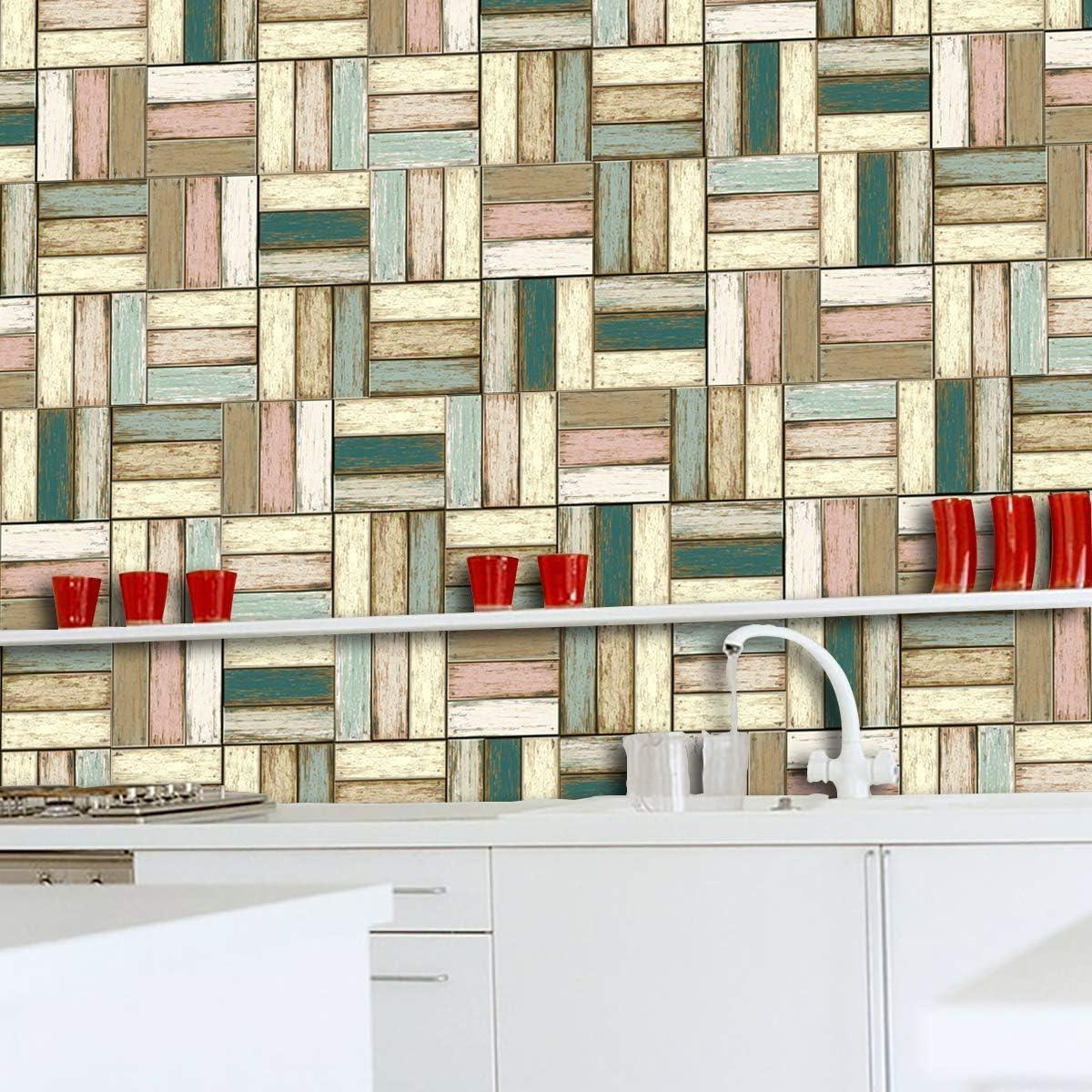 Aooyaoo Peel And Stick Wall Tile Self Adhesive Wall Stickers Stick On Backsplash Bathroom Bedroom 5 Sheets 7 3x7 3 Vinyl Decorative Tiles Home Kitchen Decorative Tiles Ohmychalk Com