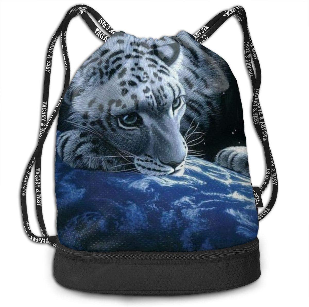 GymSack Drawstring Bag Sackpack Out Space Leopard Sport Cinch Pack Simple Bundle Pocke Backpack For Men Women