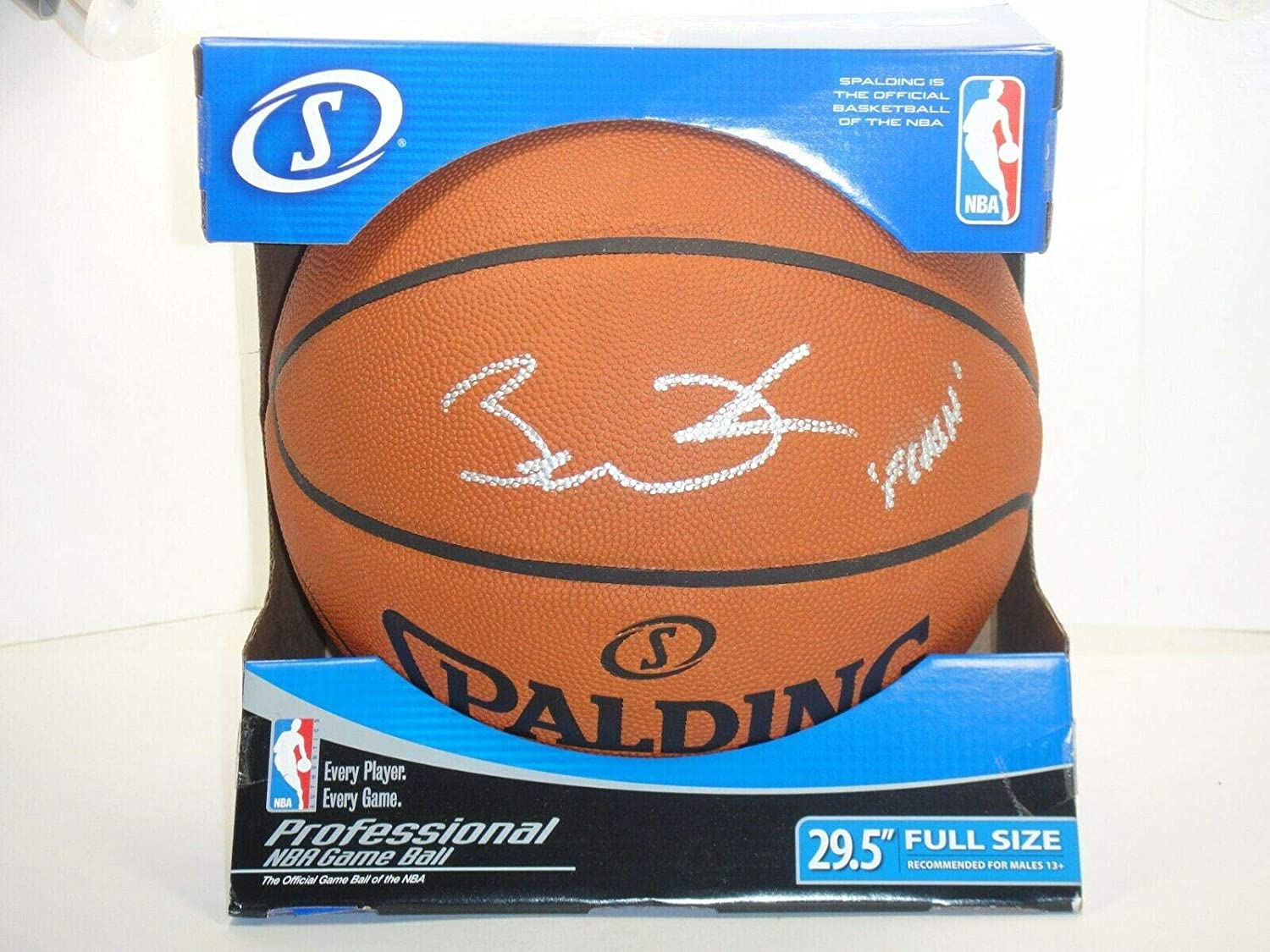 huge selection of 47999 ad84d Dwyane Wade Autographed Ball - Flash Official Leather Game ...