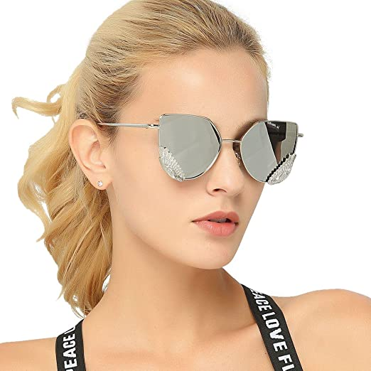 f220c565914 Image Unavailable. Image not available for. Color  Sunglasses For Women  Oversized Rimless Diamond Cutting Lens Sun Glasses Pink