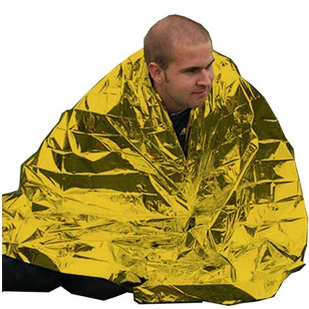 Ndier Rescate Manta, Manta de Emergencia de Primeros Auxilios de Techo 130 x 210 cm, Oro