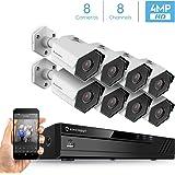 Amcrest 4MP Security Camera System, W/ 4K 8CH PoE NVR, (8) x 4-Megapixel 3.6mm Wide Angle Lens Weatherproof Metal Bullet POE IP Cameras, NV4108E-HS-IP4M-1026EW8 (White)