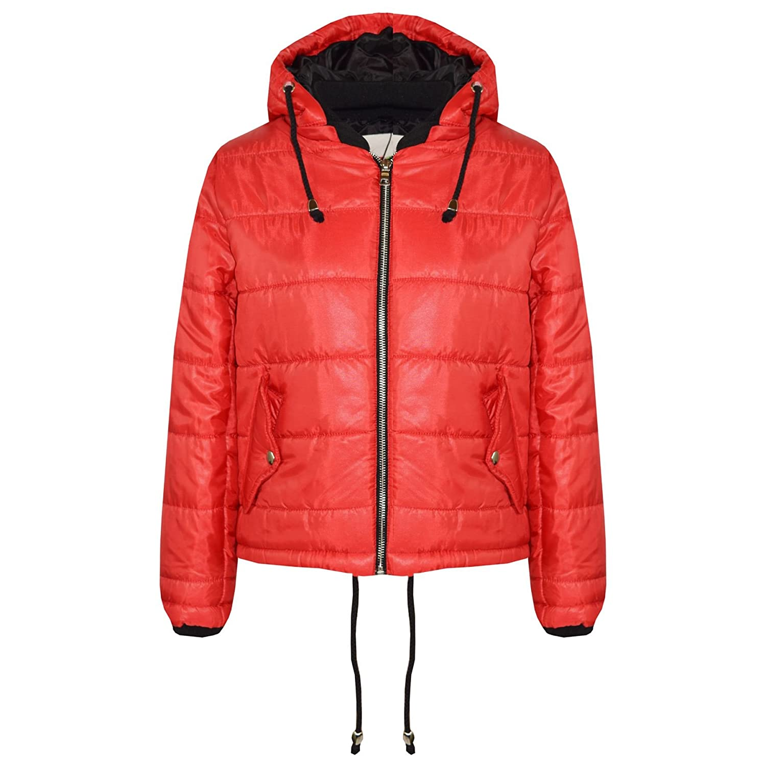 A2Z 4 Kids® Girls Jacket Kids Designer's Bella High Shine Hooded Hoodie Padded Quilted Puffer Jackets Warm Thick Coats New Age 5 6 7 8 9 10 11 12 13 Years