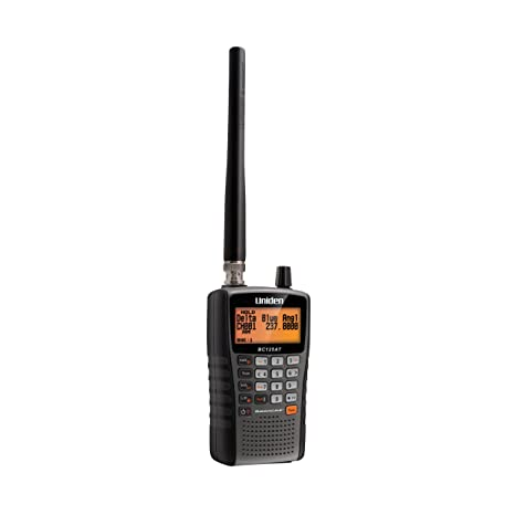 Uniden Bearcat Bc125 At Handheld Scanner. 500 Alpha Tagged Channels. Public Safety, Police, Fire, Emergency, Marine, Military Aircraft, And Auto Racing Scanner.  Lightweight, Portable Design. by Uniden