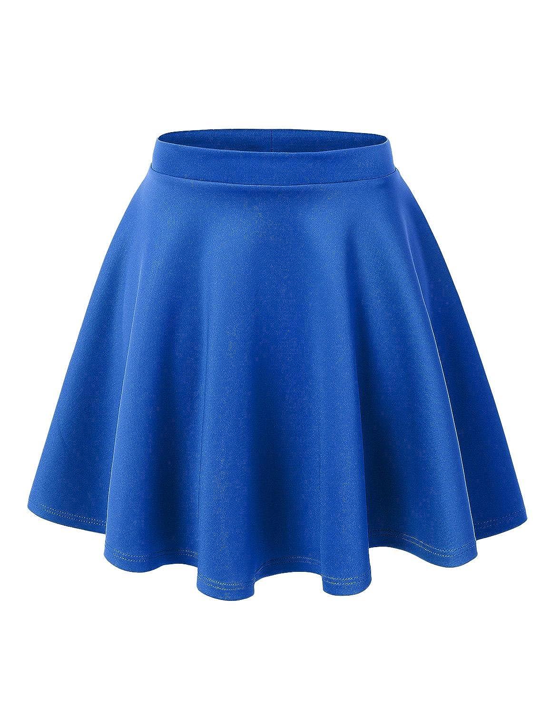 UUファッション女性用プラスサイズ基本的な万能ストレッチフレアスケータースカート B0755LK9W7 2X|Wb1034_royalblue Wb1034_royalblue 2X