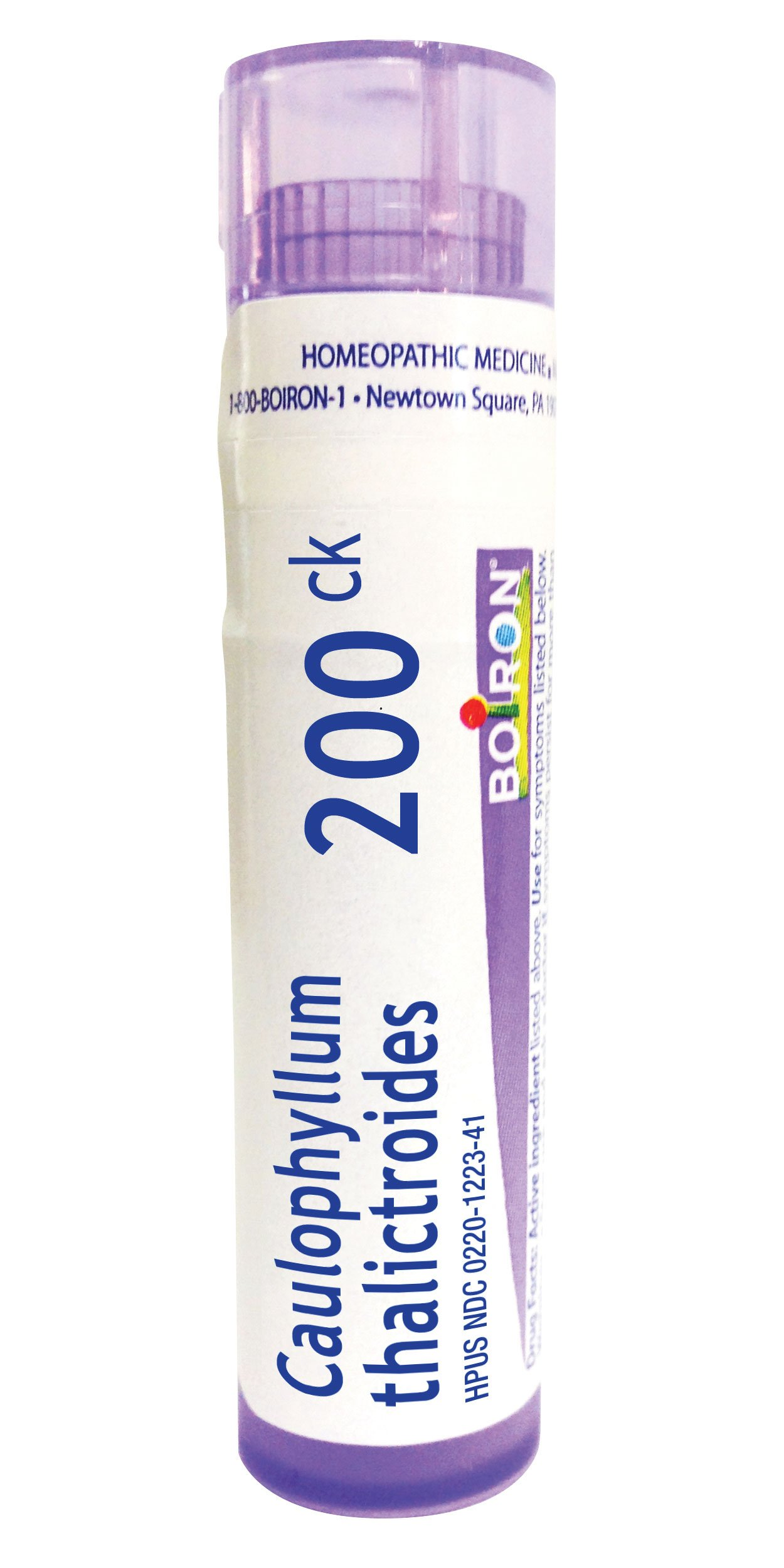 Boiron Caulophyllum Thalictroides 200C, 80 Pellets, Homeopathic Medicine for Menstrual Cramps
